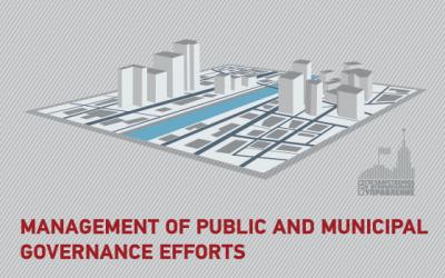 Management of public and municipal governance efforts