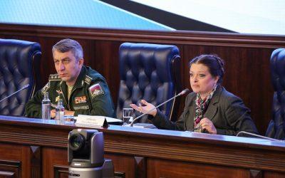 Профессор ИГСУ Ольга Киянова выступила с докладом  об особенностях языка нормативно-правовых актов в Министерстве обороны Российской Федерации