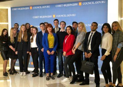 Студенты программ ГМУ на экскурсии в Совете Федерации Федерального Собрания Российской Федерации