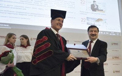 A Title of the Honorary Doctor of the Presidential Acaemy Awarded to Franco Frattini