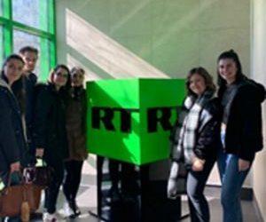 Иностранные студенты факультета международного регионоведения на RT (Russia Today)