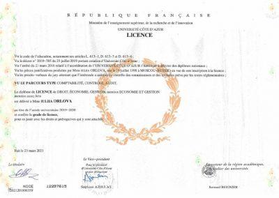 sertifikat Orlova